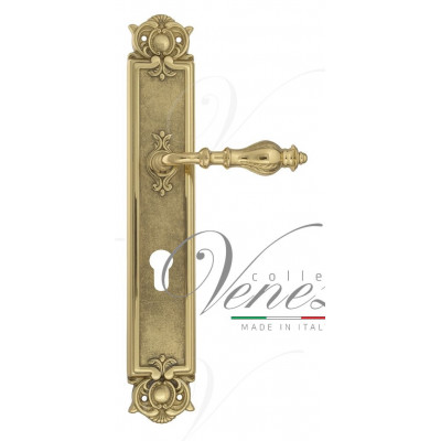 Ручка Venezia GIFESTION CYL на планке PL97 полированная латунь