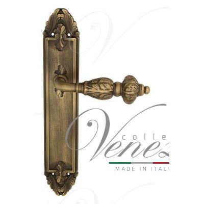 Ручка Venezia LUCRECIA на планке PL90 матовая бронза