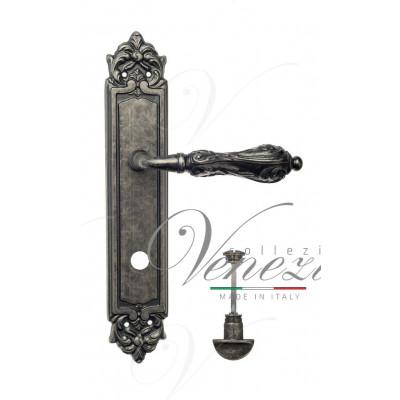 Ручка Venezia MONTE CRISTO WC на планке PL96 античное серебро