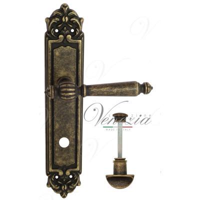 Ручка Venezia PELLESTRINA WC на планке PL96 античная бронза