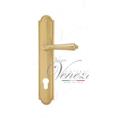 Ручка Venezia VIGNOLE CYL на планке PL98 полированная латунь