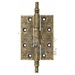Дверная петля универсальная латунная с узором Venezia CRS011 102x76x3 матовая бронза