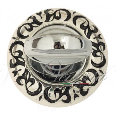 Фиксатор поворотный Venezia WC-2 D4 натуральное серебро + черный