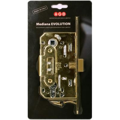 Замок межкомнатный AGB Mediana Evolution B01103.50.03.567, золото