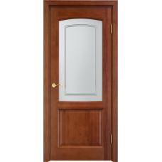 Дверь Арсенал 116ш остекленная коньяк