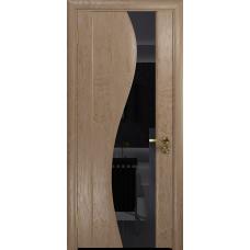 Дверь DioDoor Фрея 2 ясень античный  триплекс черный