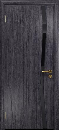Межкомнатная дверь DioDoor Грация 1 абрикос триплекс черный
