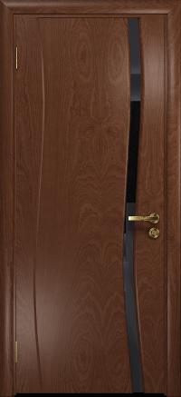 Межкомнатная дверь DioDoor Грация 1 красное дерево триплекс черный