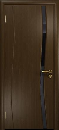 Межкомнатная дверь DioDoor Грация 1 венге триплекс черный