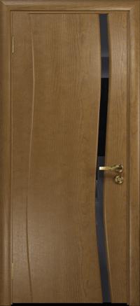 Межкомнатная дверь DioDoor Грация 1 ясень античный  триплекс черный