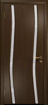 Межкомнатная дверь DioDoor Грация 2 венге, триплекс белый