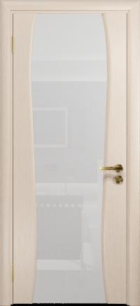 Межкомнатная дверь DioDoor Портелло 2 беленый дуб триплекс белый