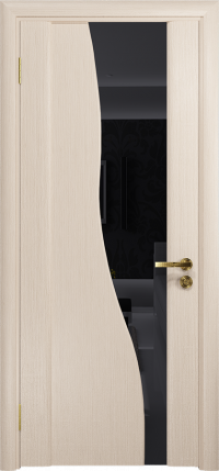 Дверь DioDoor Торелло беленый дуб триплекс черный