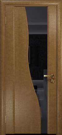 Межкомнатная дверь DioDoor Торелло ясень античный  триплекс черный