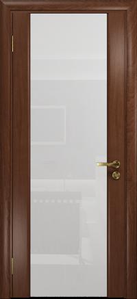 Межкомнатная дверь DioDoor Триумф 3 красное дерево триплекс белый