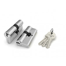Цилиндровый механизм Fuaro 100 CA 75 mm (30+10+35) CP хром 3 кл.