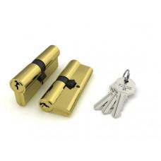 Цилиндровый механизм Fuaro 100 CA 80 mm (30+10+40) PB латунь 3 кл.