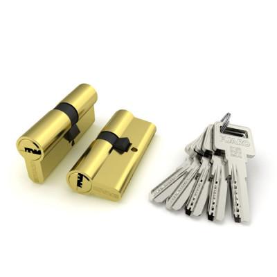 Цилиндровый механизм Fuaro R600/70 mm (30+10+30) BBP латунь 5 кл.