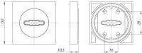 Накладка на ключ Fuaro SC KM CP-8 1 шт