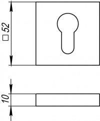 Накладка под цилиндр Fuaro ET DM CP-8 хром