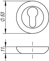 Накладка под цилиндр Fuaro ET RM AB/GP-7
