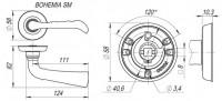 Ручка Fuaro BOHEMIA SM MAB-6 темная бронза