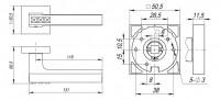 Ручка Fuaro CRYSTAL FLASH DM CP-8 хром
