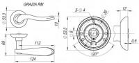Ручка Fuaro GRAZIA RM AB/GP-7
