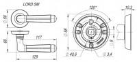 Ручка Fuaro LORD SM MAB-6 темная бронза