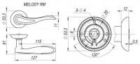 Ручка Fuaro MELODY RM SN/CP-3