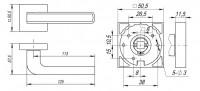 Ручка Fuaro NEO DM CP/WH-19 хром/белый