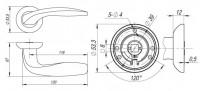 Ручка Fuaro VITA RM SN/CP-3 матовый никель/хром