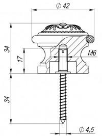 Упор дверной DS SM01 AB-7 матовая бронза