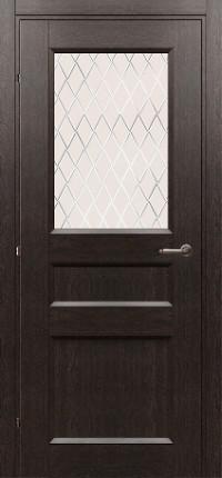 Дверь Краснодеревщик 3342 черный дуб
