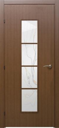 Дверь Краснодеревщик 5066 Грецкий орех, стекло матовое