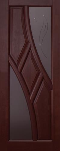 Дверь Ока Глория, остекленная, Махагон