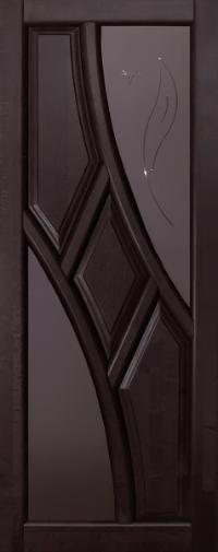 Дверь Ока Глория, остекленная, Венге