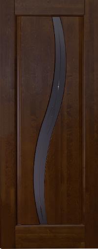 Дверь Ока Соло, остекленная, Античный орех