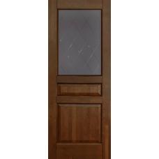 Дверь Ока Валенсия, остекленная, Античный орех