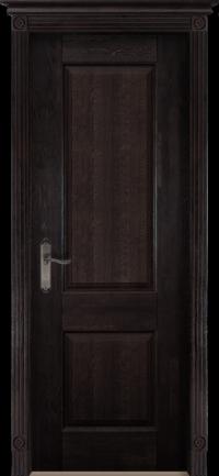 Дверь Ока Классика №1 глухая Венге, массив дуба