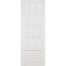 Дверь Ока Лондон ПГ глухая Белый (White), массив дуба