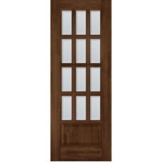 Дверь Ока Лондон ПО стекло матовое осветленное с фацетом Античный орех, массив дуба