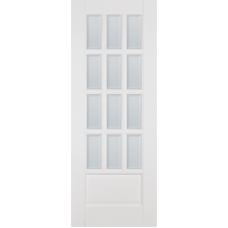 Дверь Ока Лондон ПО стекло матовое осветленное с фацетом Белый (White), массив дуба