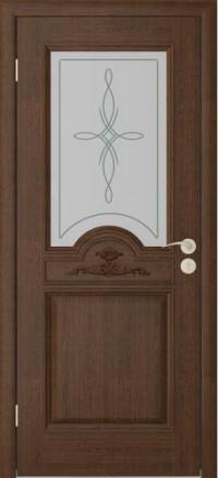 Дверь Юркас Люкс остекленная Каштан