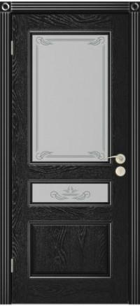 Дверь Юркас Вена остекленная Эмаль черная