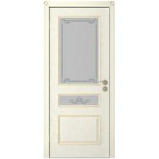 Дверь Юркас Вена остекленная Эмаль крем