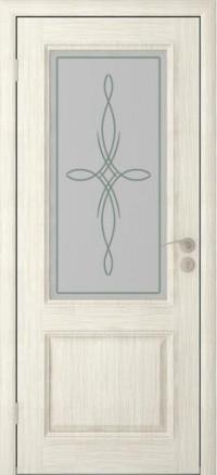 Дверь Юркас Шервуд -2 остекленная Слоновая кость