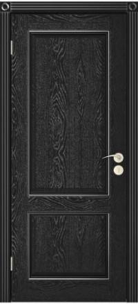 Дверь Юркас Шервуд-3 глухая Эмаль черная