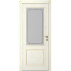 Дверь Юркас Шервуд-3 остекленная Эмаль крем