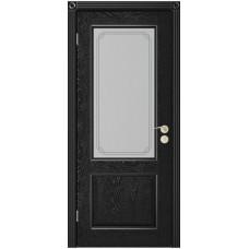 Дверь Юркас Шервуд-3 остекленная Эмаль черная